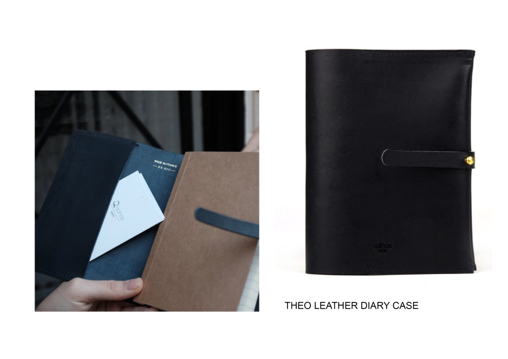THEO LEATHER DIARY CASE